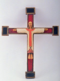 Christ on Cross Sculpture by Kevin Hanna Premium Photographic Print by Ted Thai