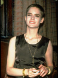 Actress Jennifer Jason Leigh Sporting Crewcut Hairstyle Premium Photographic Print by Dave Allocca