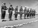 The Arab Legion Standing in a Formal Line Premium Photographic Print by John Phillips