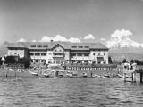 Exterior of Casino at Vina Del Mar Premium Photographic Print by Hart Preston