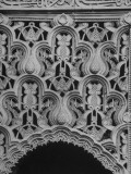 Detail Closeup of Panel over Doorway Arch in the Alhambra Premium Photographic Print by David Lees