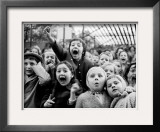 Wide Range of Facial Expressions on Children at Puppet Show the Moment the Dragon is Slain Framed Photographic Print by Alfred Eisenstaedt