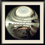 Interior Views of the Frank Lloyd Wright Designed, Solomon R. Guggenheim Museum Framed Photographic Print by Dmitri Kessel