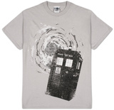 Dr Who - B&amp;W Tardis New Logo T-Shirt