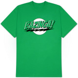 Big Bang Theory - Bazinga Green Lantern Colors Shirts
