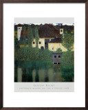 Unterach Manor on the Attersee Lake, Austria Posters by Gustav Klimt