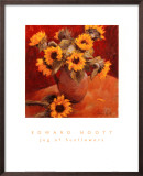 Jug of Sunflowers Posters by Edward Noott
