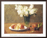 Heritage, Still Life with Peaches Prints by Henri Fantin-Latour