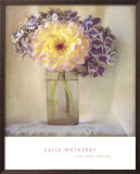 Dahlia with Hydrangeas I Posters by Sally Wetherby