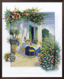 Veranda in Bloom I Prints by Peter Motz