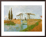 The Langlois Drawbridge Print by Vincent van Gogh