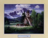 Western Church Poster by Jack Sorenson