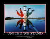 Patriotic United We Stand Poster