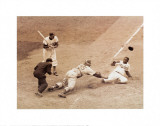 Jackie Robinson Stealing Home, May 18, 1952 Poster by Nat Fein