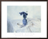 Pansies in a Blue Vase Prints by Arthur Easton