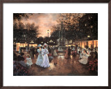 Meeting at the Fountain Poster by Christa Kieffer