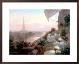 Dinner on the Terrace Print by Christa Kieffer