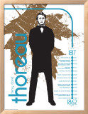 Henry David Thoreau Print by Jeanne Stevenson