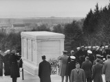 Franklin D. Roosevelt at the Tomb of the Unknown Soldier Premium Photographic Print