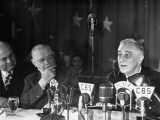 President Franklin D. Roosevelt Making a Campaign Speech to Gathering of Teamsters Premium Photographic Print