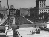 A View of a Parade at the 5th Anniversary of the Founding of the Italian Republic Premium Photographic Print