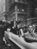 Pianist Van Cliburn Greeting a Crowd Premium Photographic Print