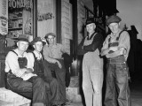 Group of Farmers Standing Outside Store Premium Photographic Print