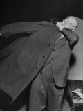 Harold L. Ickes Putting Putting on Coat at Franklin D. Roosevelt Inauguration Premium Photographic Print
