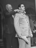 President Harry S. Truman Presenting the Congressional Medal of Honor to a Soldier Premium Photographic Print