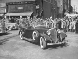 President Harry S. Truman Riding Through the Streets of Padua Enroute to the Kentucky Dam Premium Photographic Print