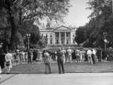 A Far View of the White House as President Harry S. Truman Greets Iraqi Prince Abdul Ilah Premium Photographic Print