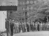 War Assets State Directors Lining Up to See President Harry S. Truman Premium Photographic Print