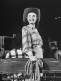 A Woman Modeling Rodeo Fashions Premium Photographic Print