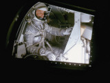 John Glenn in Mock Space Capsule During Training. Langley Research Center, Virginia Premium Photographic Print
