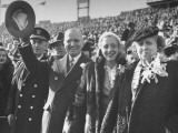 President Harry S. Truman and Family Attending Army-Navy Football Game Premium Photographic Print