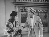 "Actress Joan Bennett and Actor Dan Duryea Performing in Scene from the Movie ""Scarlet Street"" Premium Photographic Print"