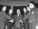 President Harry S. Truman Greeting Members of the Future Farmers of America Premium Photographic Print