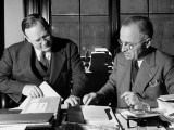 Senator Harry S. Truman Meeting in His Office with Chief Counsel Hugh Fulton Premium Photographic Print