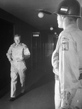 General Douglas Macarthur's Executive Officer General Miller Walking Down Hall Premium Photographic Print