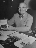 Harry S. Truman Showing New Gold Case Giving Him Life Membership in AAA Club of Missouri Premium Photographic Print