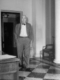 Elmer Davis Leaving His Interview with President Franklin Roosevelt in the White House Premium Photographic Print
