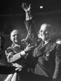 Senator Samuel C. Jackson Raising the Newly Nominated Vice Presidental Candidate Harry Truman's Arm Premium Photographic Print