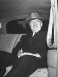 President Harry S. Truman Leaving the White House by Car Premium Photographic Print