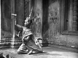 LIFE©. - Royal Ballet Performing in Temple of Angkor Wat, 1949, Photographic Print