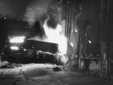 "Interior of ""Red October"" Steel Plant, 90% Wrecked Premium Photographic Print"