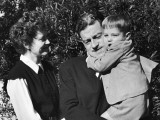 Director Preston Sturges Standing with His Wife and Son Premium Photographic Print
