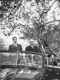 Miguel Aleman and Harry S. Truman Riding in Welcoming Parade Premium Photographic Print