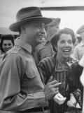 President Manuel A. Roxas and Mrs. Douglas Macarthur Sharing a Laugh Premium Photographic Print