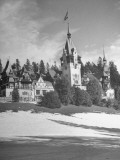 Exterior of Sinaia Palace Premium Photographic Print