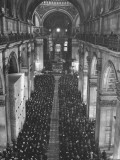 Crowds Attending the Memorial Service at St. Paul's Church, for Franklin D. Roosevelt Premium Photographic Print